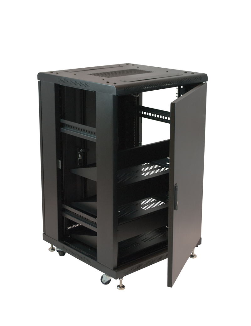 19 Quot Equipment Rack Enclosure 18u Preloaded W Shelves