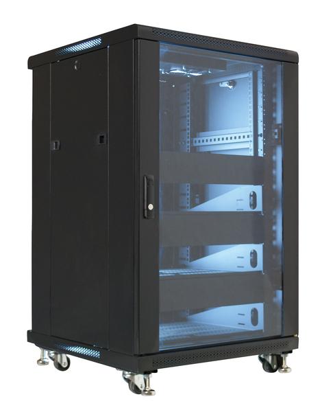 19 Quot Equipment Rack Enclosure 18u Preloaded W Shelves